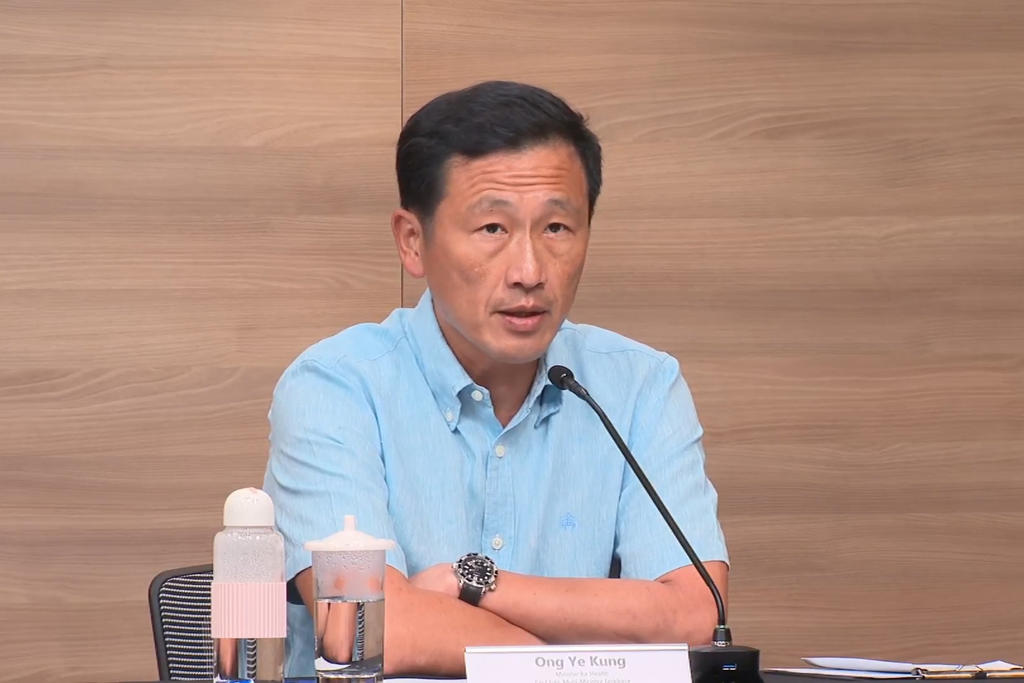 Health Minister Ong Ye Kung said that he had received several questions on why the government has imposed tighter regulations again to control Covid-19 when it had earlier outlined plans for Singapore to live with the disease. ― Mediacorp pic