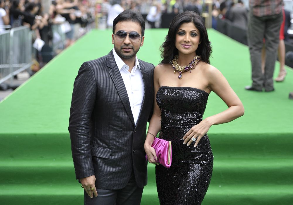 Bollywood actress Shilpa Shetty is seen with husband Raj Kundra, who is accused of producing pornographic films . — Reuters pic