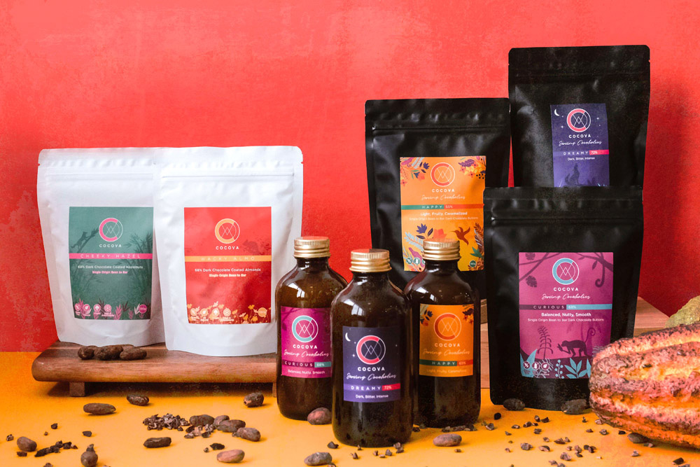 Malaysian chocolate brand Cocova's extensive product range. — Pictures courtesy of Cocova