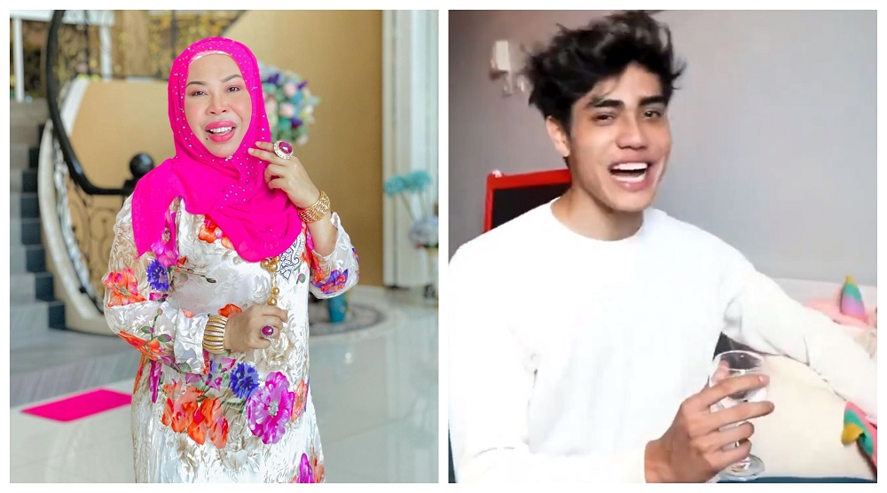 Vida and Aisar have both respectively deleted the clips that Malaysians claimed were insensitive towards the late singer's family.  —  Picture from Instagram/Datuk Seri Vida, screengrab from Twitter/Aisar Khaled