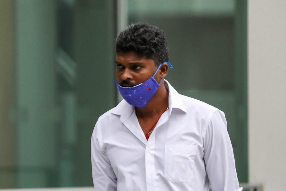 Rajamanickam Suresh Kumar arriving at the State Courts on May 19, 2021. — TODAY pic