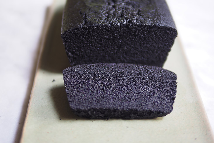 The almost black appearance of this fluffy, moist steamed dark chocolate cake from Cake Ta'im is due to a special cocoa powder they use — Pictures by Lee Khang Yi