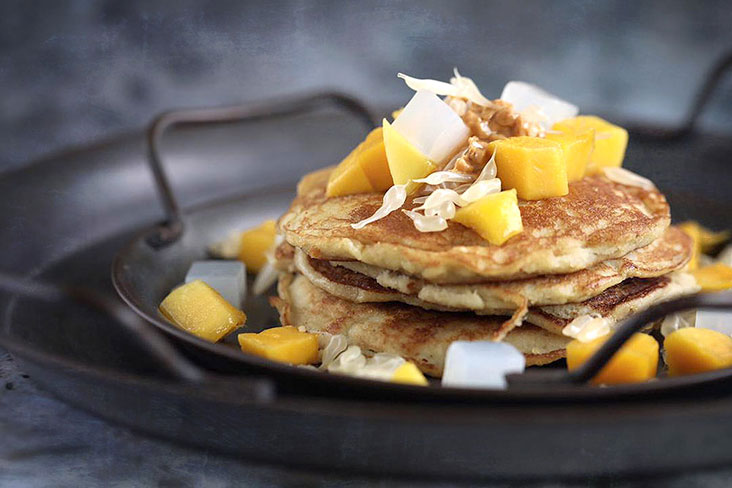 These coconut pancakes are delightfully easy to make. – Pictures by CK Lim