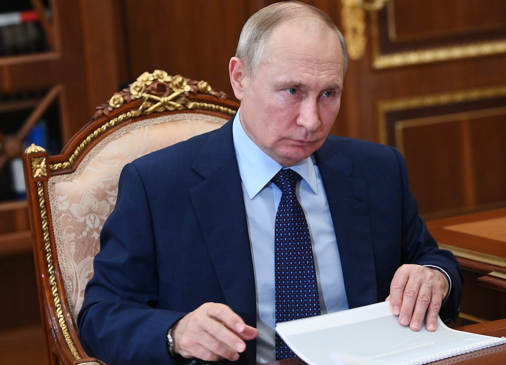 Russian President Vladimir Putin condemned the presence of foreign troops in Syria without the approval of its leader Bashar al-Assad, the Kremlin said today. — Reuters pic