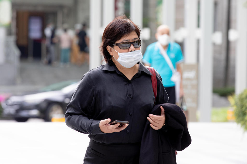 Phoon Chiu Yoke seen outside the State Courts on July 6, 2021. ― TODAY pic