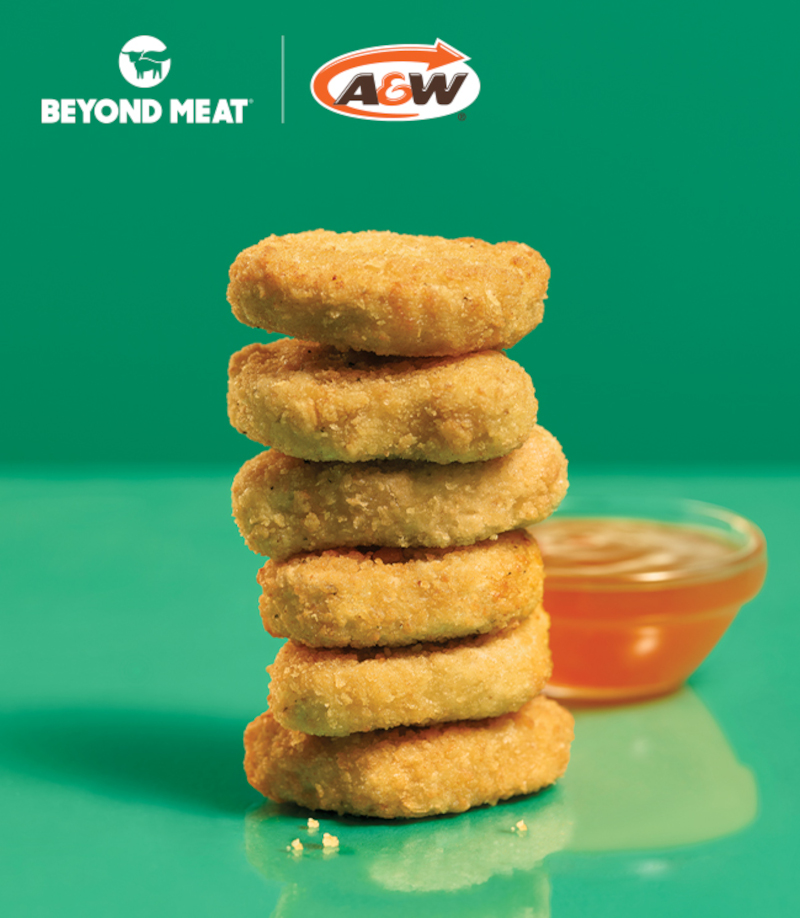 Beyond Meat's plant-based nuggets are available for a limited time at A&W Canada. — Picture from Beyond Meat, Inc via ETX Studio