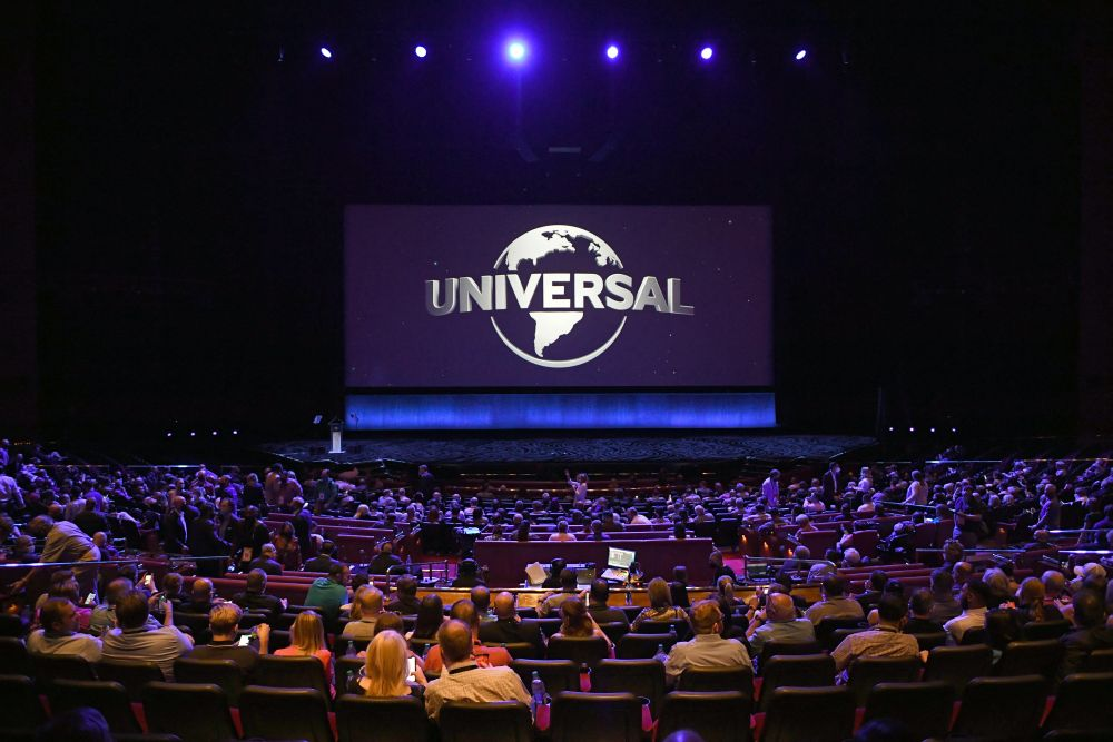 Passholders attend Universal Pictures' special footage presentation at The Colosseum at Caesars Palace during CinemaCon in Las Vegas August 25, 2021. — AFP pic