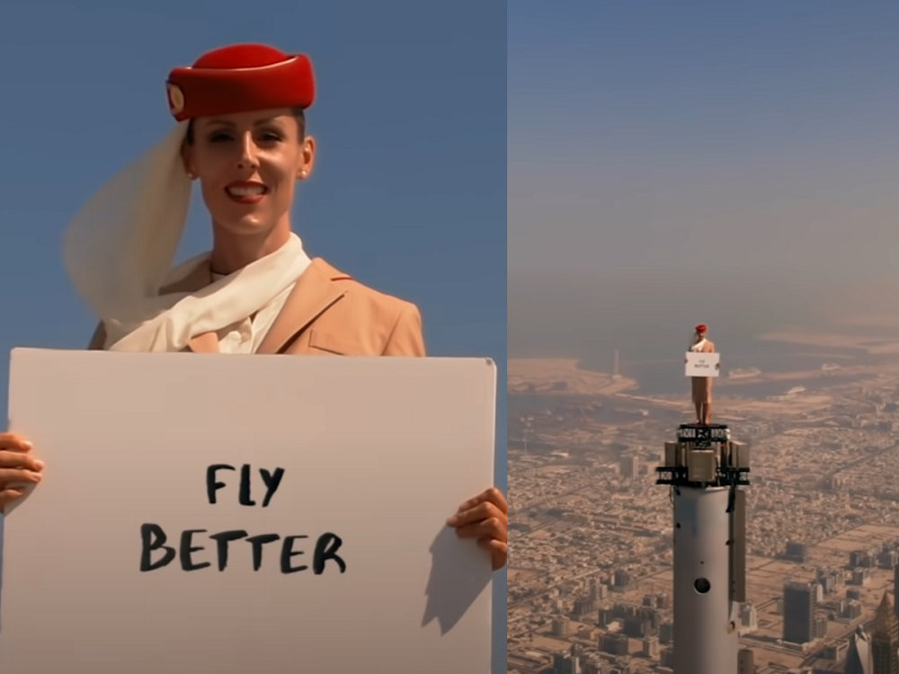 A screenshot from the Emirates Airline commercial. ― Screenshot via Instagram/ Emirates