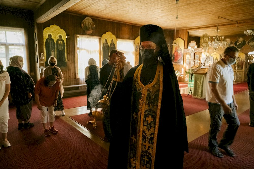 Father Mikael uses incense during an evening mass at the Orthodox Christian monastery Valamo, in Uusi-Valamo, Heinavesi, Finland. — AFP file pic