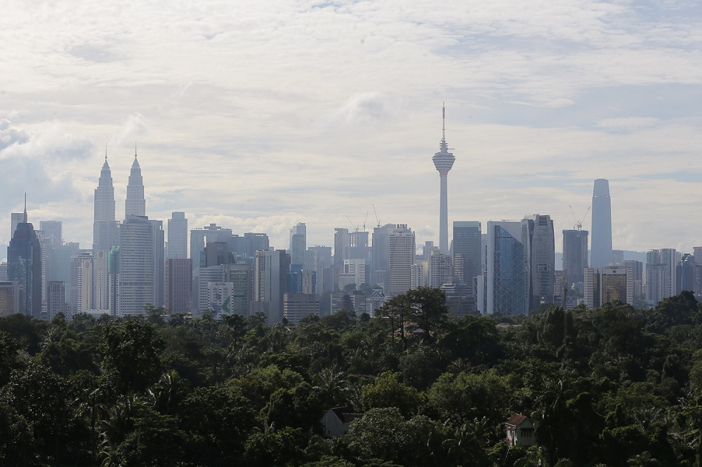 A view of the city skyline in Kuala Lumpur August 17, 2021. ― Picture by Yusof Mat Isa