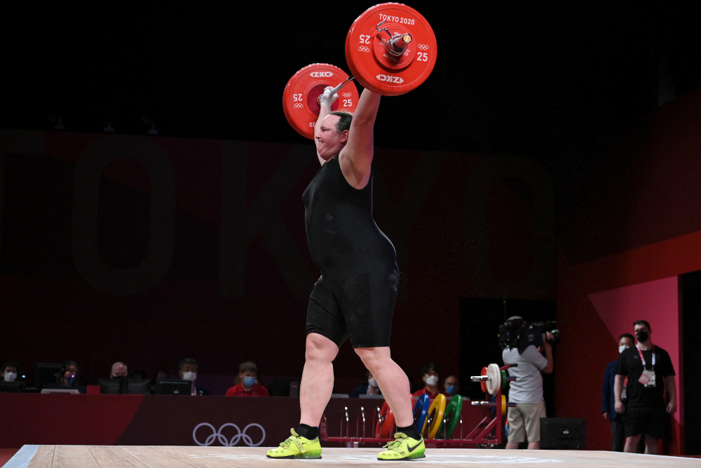 New Zealand's Laurel Hubbard competes in the women's +87kg weightlifting competition during the Tokyo 2020 Olympic Games at the Tokyo International Forum in Tokyo August 2, 2021. ― AFP pic