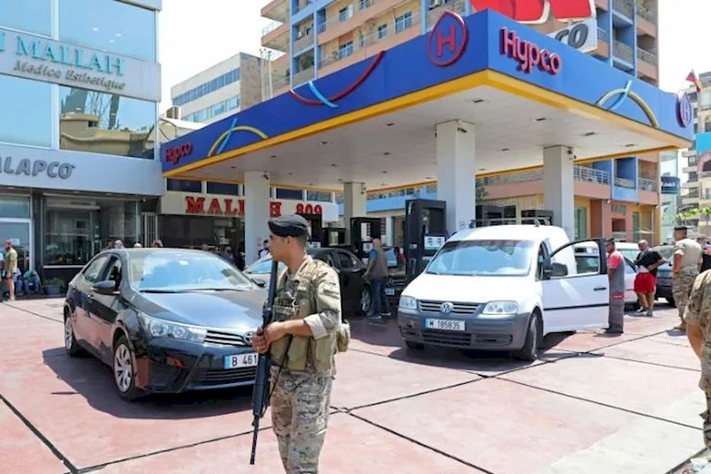 Lebanon's army has deployed at gas stations to stop fuel hoarding in the country after the central bank's decision to stop fuel subsidies sparked panic in the crisis-hit country. — AFP pic