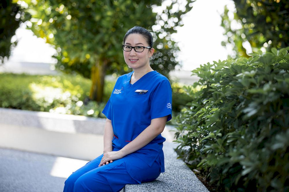 Tomomi Ogura, an assistant nurse clinician at the National University Hospital's neonatal intensive care unit. — TODAY pic