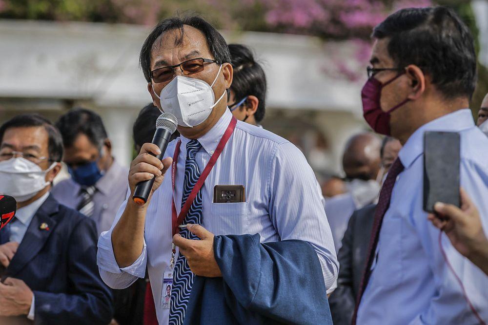 Selangau MP Baru Bian positive for Covid-19 on Friday. — Picture by Hari Anggara