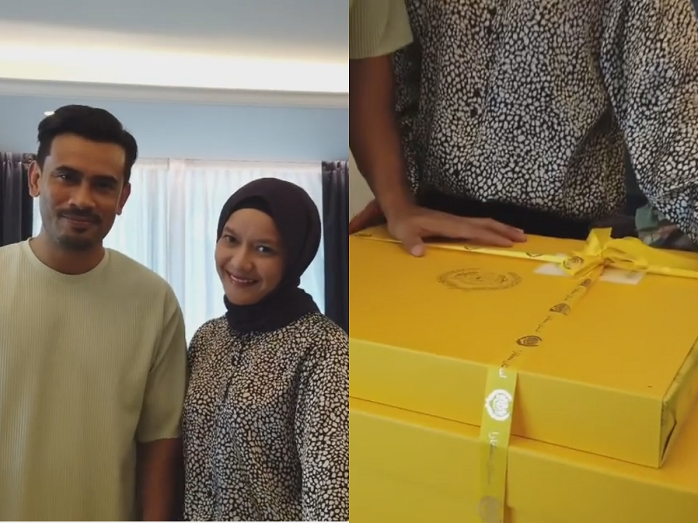 Remy Ishak and Ezra Yusoff have received a several boxes of wedding gifts courtesy of Istana Negara. ― Picture courtesy of Instagram/Remy Ishak