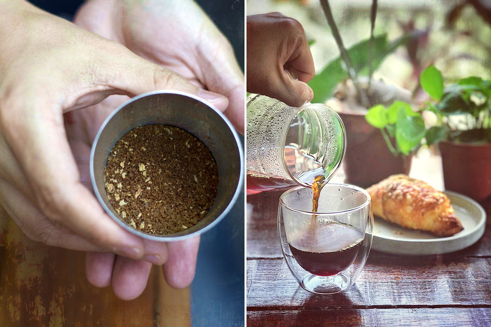 Try Ground Coffee Uptown's Pink Panther blend as a filter coffee, perfect with a buttery croissant.