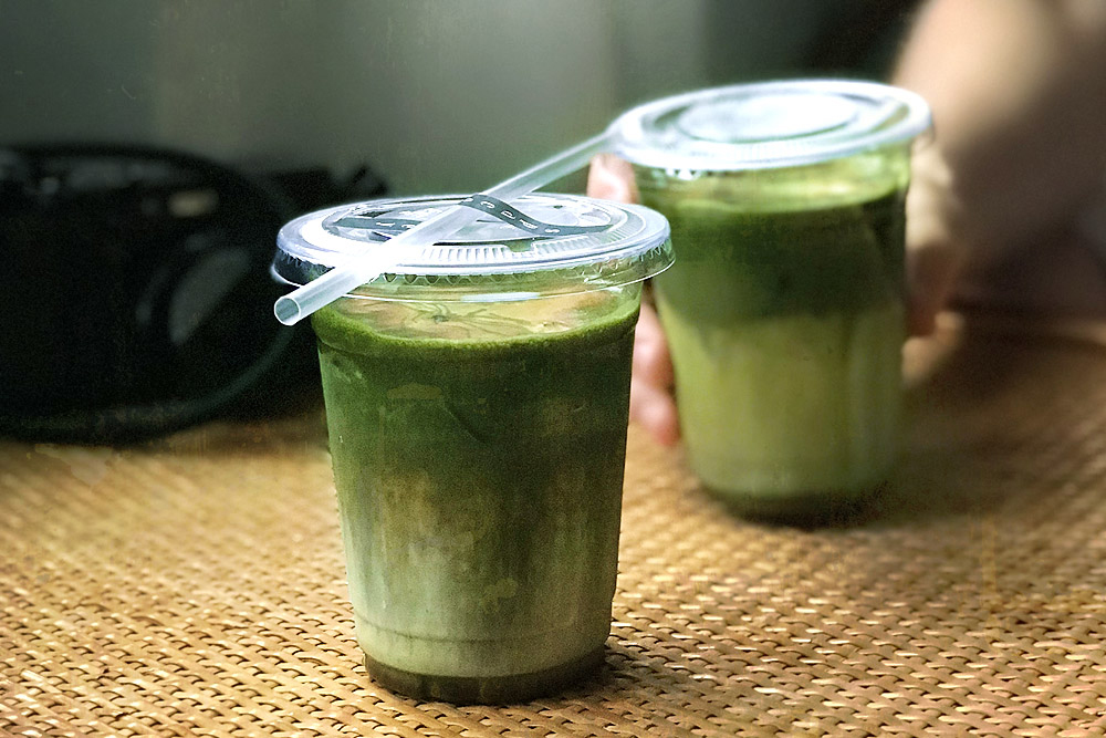 Double trouble: Dirty matcha with an espresso shot at spacegrey in SS2, PJ.
