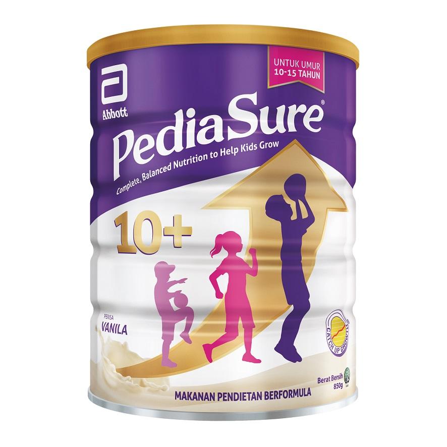 PediaSure 10+富含优质蛋白和38种营养成分,包括精氨酸和天然维生素K2,可促进最佳的体重、身高和免疫健康水平。-雅培提供-