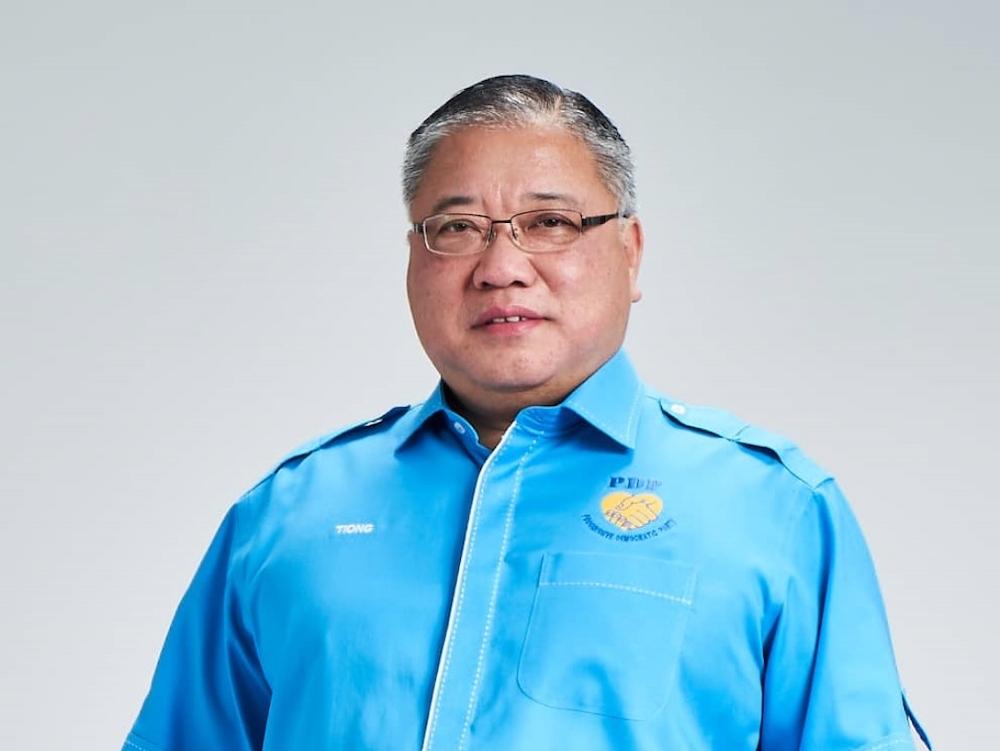 Progressive Democratic Party (PDP) president and Bintulu MP Datuk Sri Tiong King Sing. — Borneo Post pic