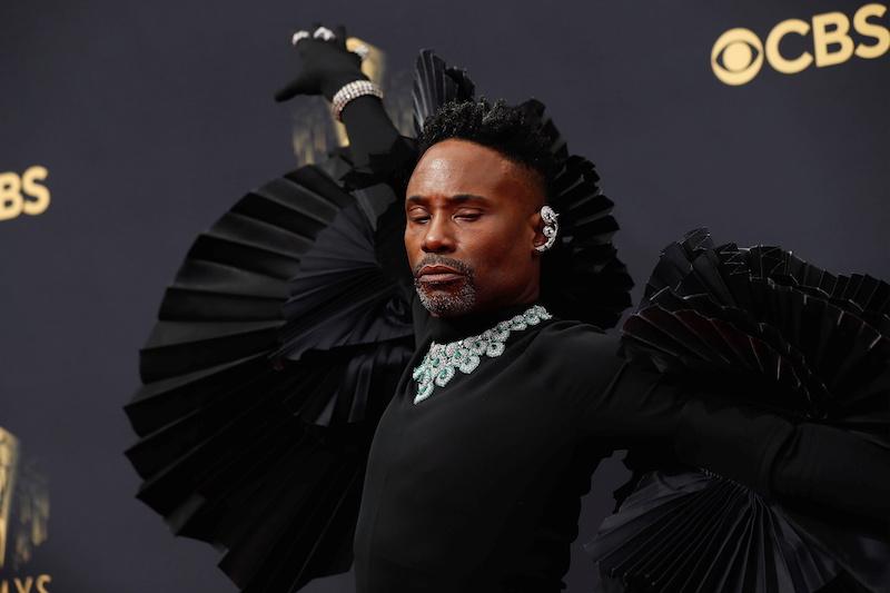 Billy Porter arrives at the 73rd Primetime Emmy Awards in Los Angeles September 19, 2021. — Reuters pic