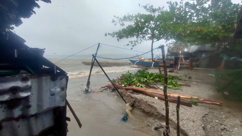 A view of the aftermath of tropical storm Consons in Dimasalang, Mastabe, Philippines September 7, 2021. — Picture by Rupert Bulalaque Capellan via Reuters