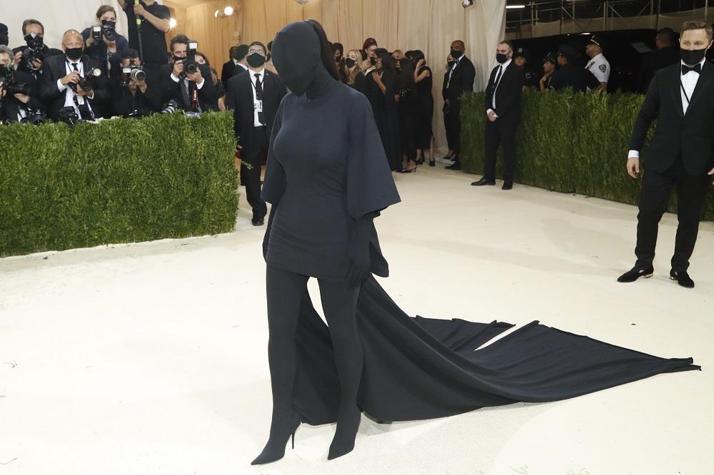 Kim Kardashian arrives at the Metropolitan Museum of Art Costume Institute Gala in New York September 13, 2021. — Reuters pic