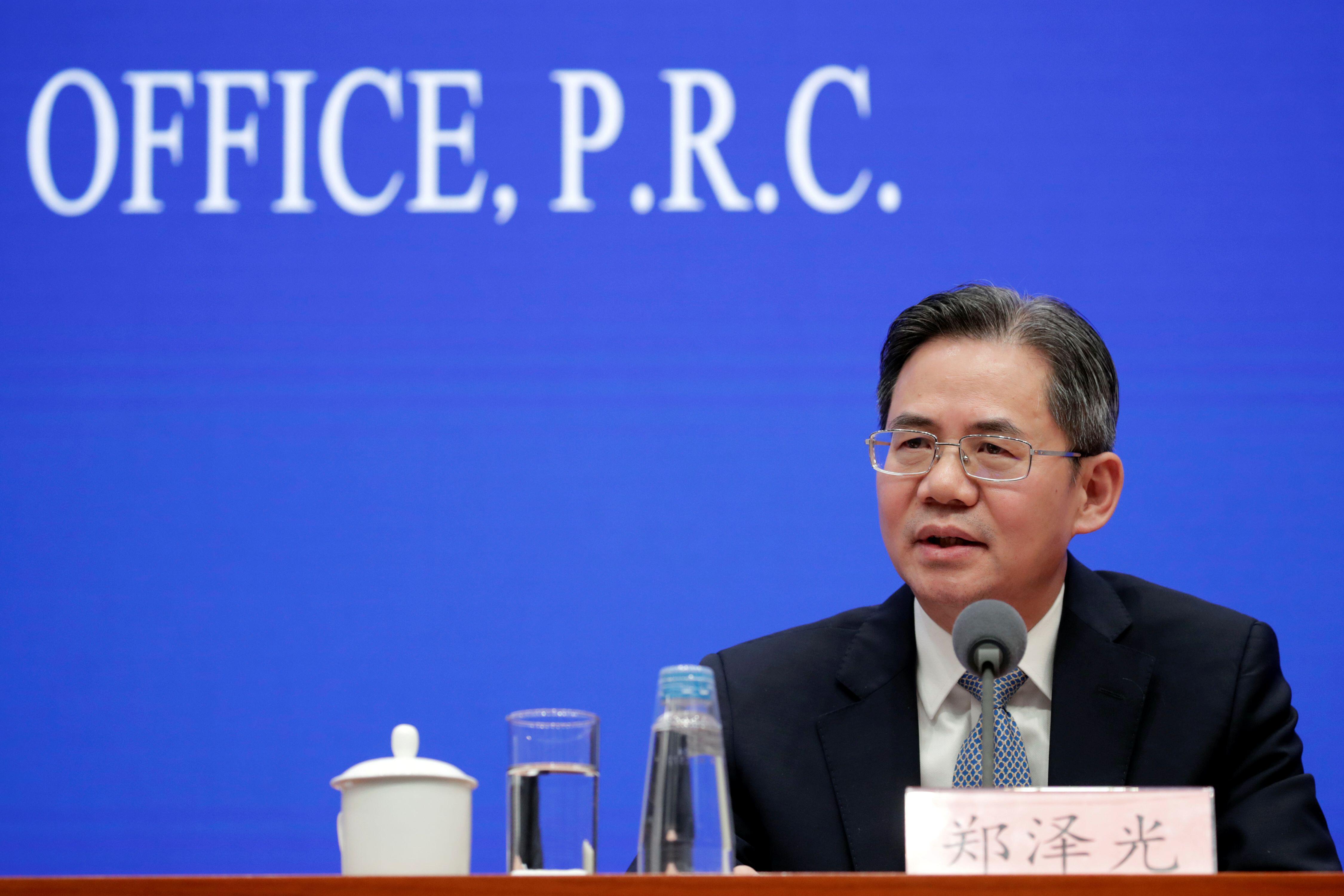 中国新任驻英国大使郑泽光原本应邀周三在议会下院参加一次由跨党派中国小组组织的招待会。-图取自网络-