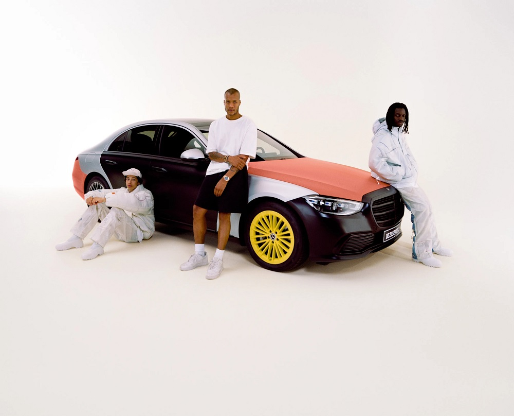 Heron Preston has joined forces with Mercedes to create a clothing collection made using recycled airbags. — Picture courtesy of Daimler