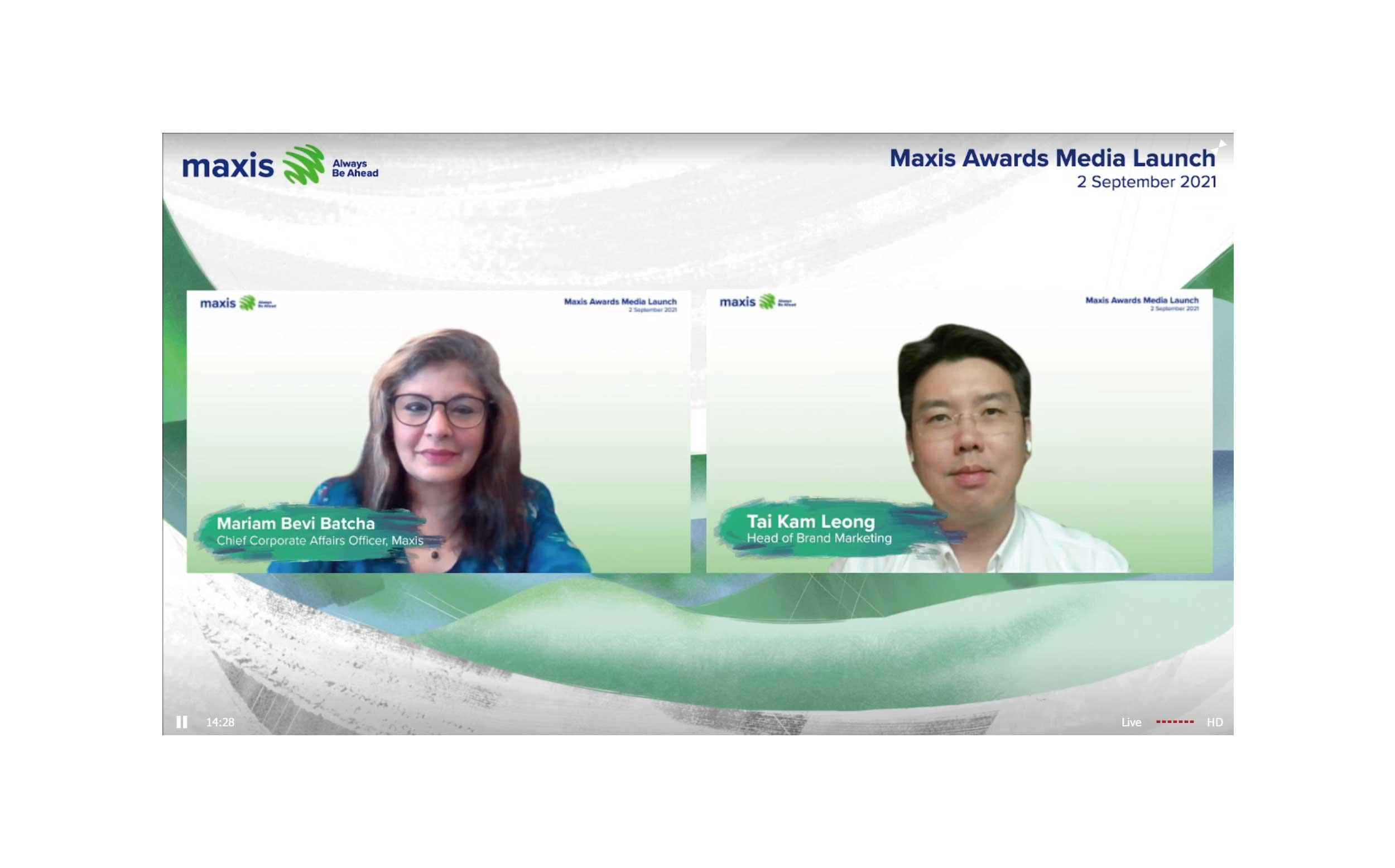 """明讯首席业务执行员Mariam Bevi Batcha(左)与品牌与营销主管Tai Kam Leong在""""明讯奖""""线上发布会上一同合影。"""