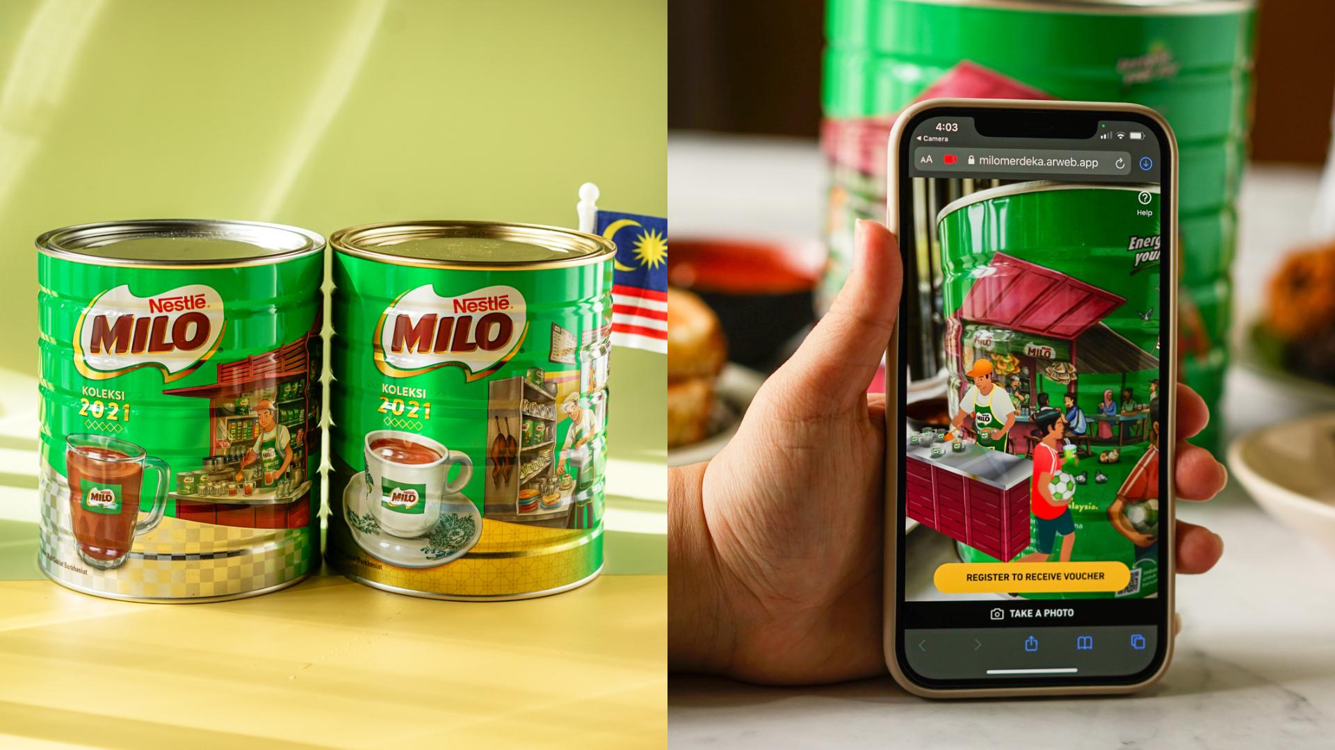 MILO与Loka Made携手推出2021年纪念版1.5公斤装铁罐系列。-MILO提供-