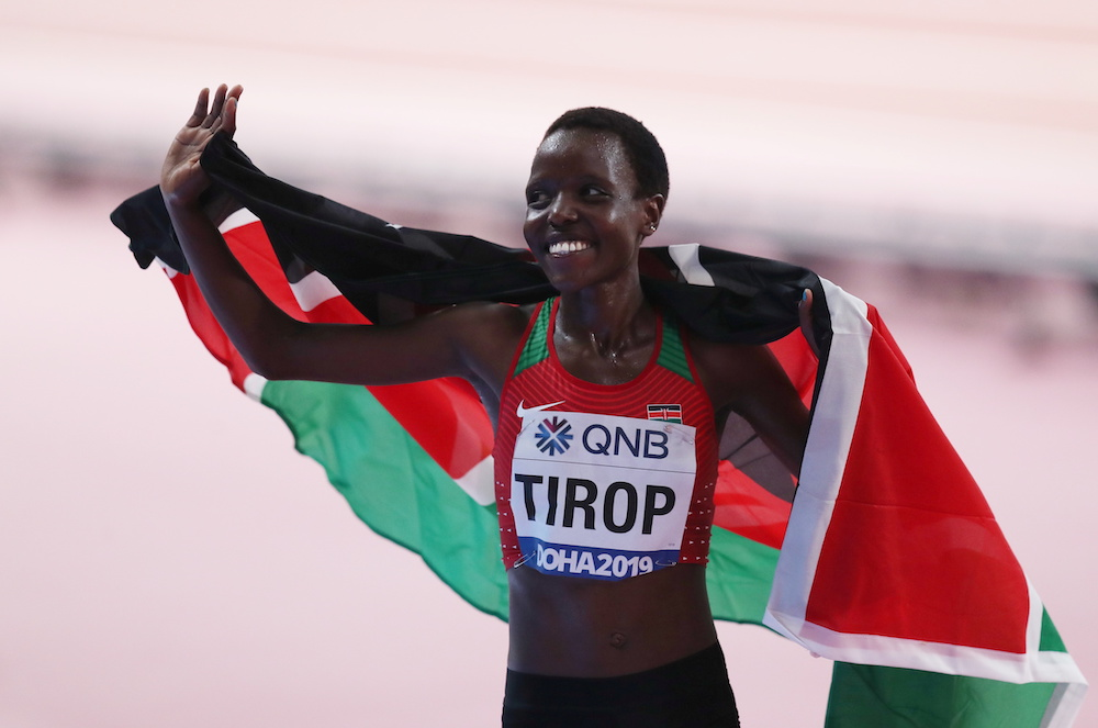 Agnes Tirop who finished fourth in the 5,000m at the Tokyo Olympics and was a fast-rising Kenyan female athlete, was found dead at her home in the high altitude training town of Iten in western Kenya. — Reuters pic