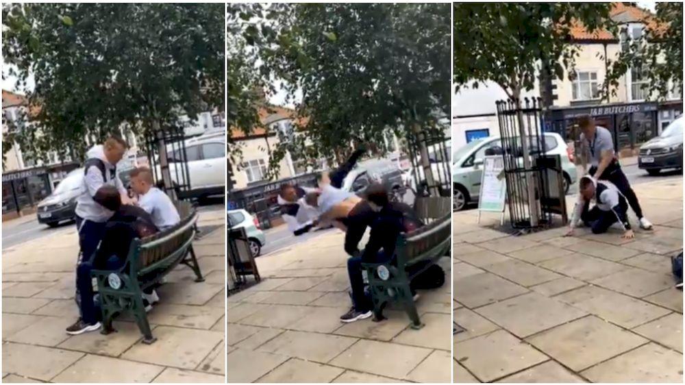16-year-old Jiu-Jitsu world champion used his MMA skills to defeat the ear-biting thug. — Picture via Twitter/Alex Enlund