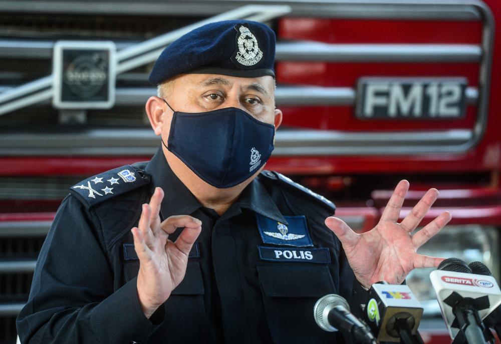 Bukit Aman Criminal Investigation Department director Datuk Seri Abd Jalil Hassan speaks to the media in Kuala Lumpur, September 21, 2021. — Bernama pic