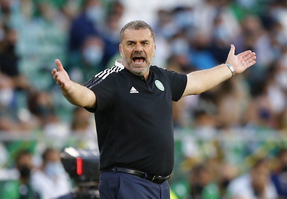 Celtic coach Ange Postecoglou reacts during the match against Real Betis September 17, 2021. ― Reuters pic