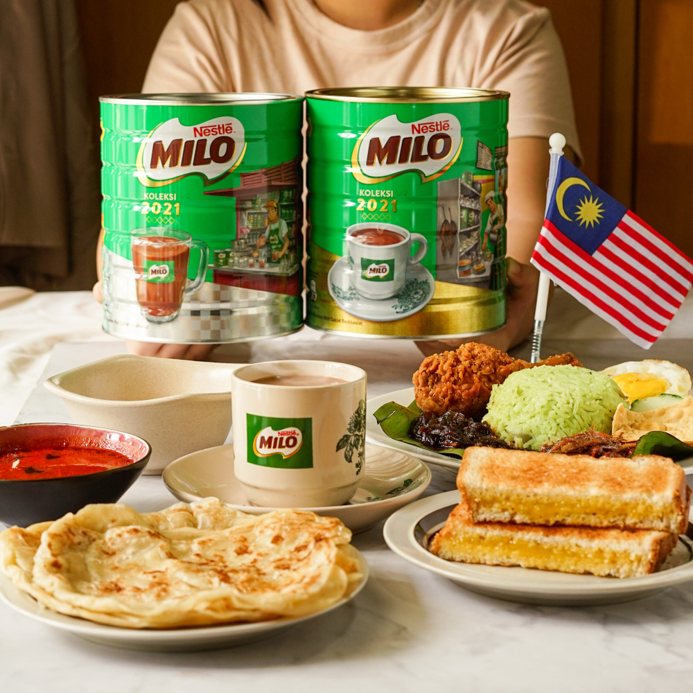 Milo, in collaboration with local creative brand, Loka Made, has released two Limited Edition 1.5 kg Tin 2021 Collection in conjunction with Malaysia Day. — Picture courtesy of Nestle Malaysia Berhad