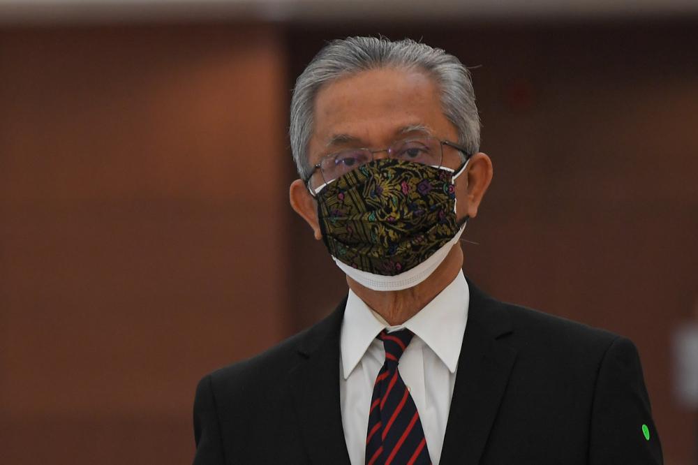 Deputy Foreign Minister Datuk Kamarudin Jaffar at Parliament in Kuala Lumpur, September 21, 2021. — Bernama pic