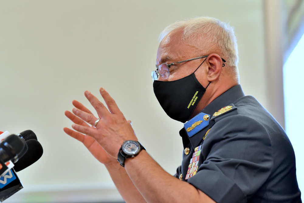 Chief of Defence Forces Gen Tan Sri Affendi Buang said the armed forces had crafted operation plans systematically using existing assets to provide a more effective defence. — Bernama pic