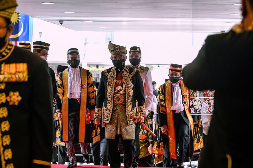 Yang di-Pertuan Agong Al-Sultan Abdullah Ri'ayatuddin Al-Mustafa Billah Shah has expressed hope that all Members of Parliament could set aside their political agenda and stay united to tackle the Covid-19 pandemic in the best interest of the people and the country. — Bernama pic
