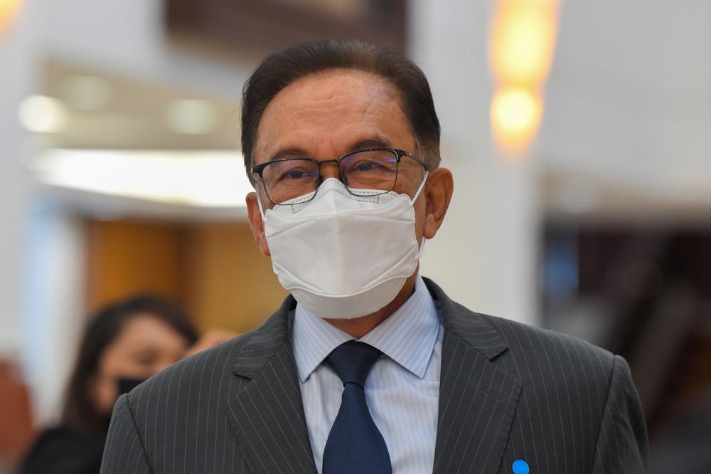 """安华说,希盟不赞同政府取消对首相依斯迈沙比里的""""信任动议""""。-马新社-"""