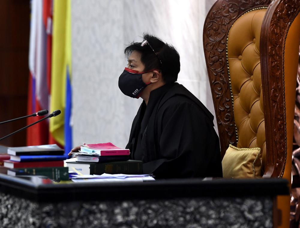 Datuk Seri Azalina Othman Said chairs the Dewan Rakyat sitting, September 15, 2021. She said she was appointed by Speaker Datuk Azhar Azizan Harun temporarily under the Standing Order 7(3) of the Dewan Rakyat, rather than a permanent appointment. — Bernama pic