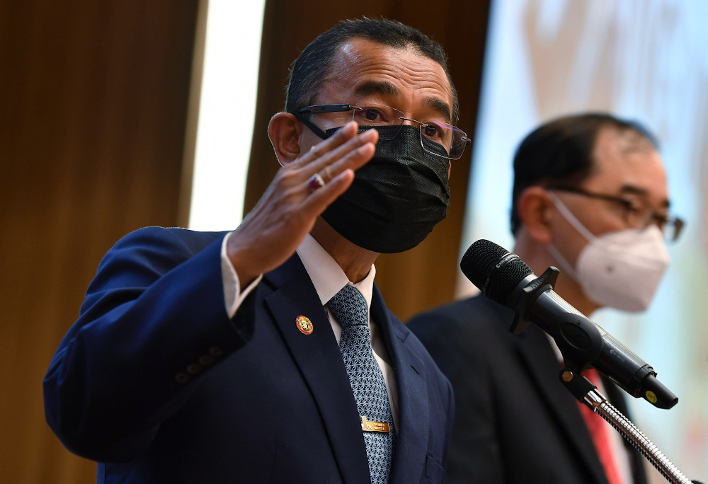 Deputy Health Minister Datuk Dr Noor Azmi Ghazali speaks with during a joint press conference with the Education Ministry in Putrajaya September 22, 2021. — Bernama pic
