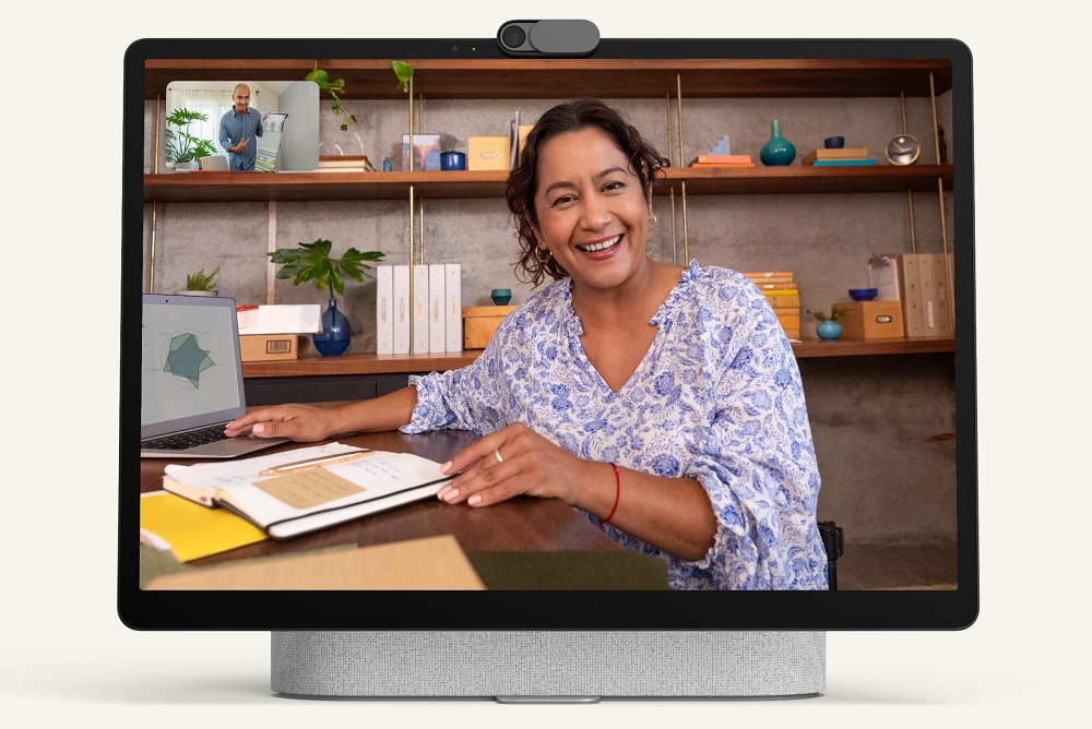 The Facebook Portal+ has a 14-inch tilting display that's ideal for video calls. ― Picture courtesy of Facebook