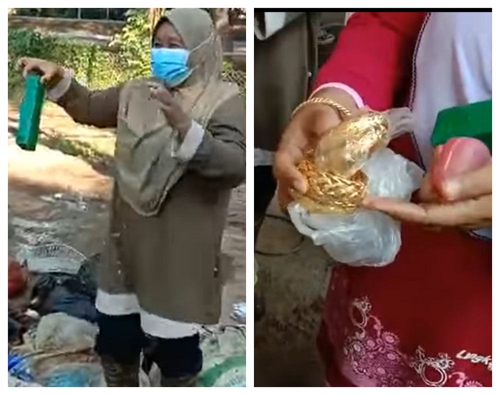 With the help of a few garbage collectors, the woman managed to recover her jewellery worth RM70,000. ― Screengrab via Facebook/IddaMelissa