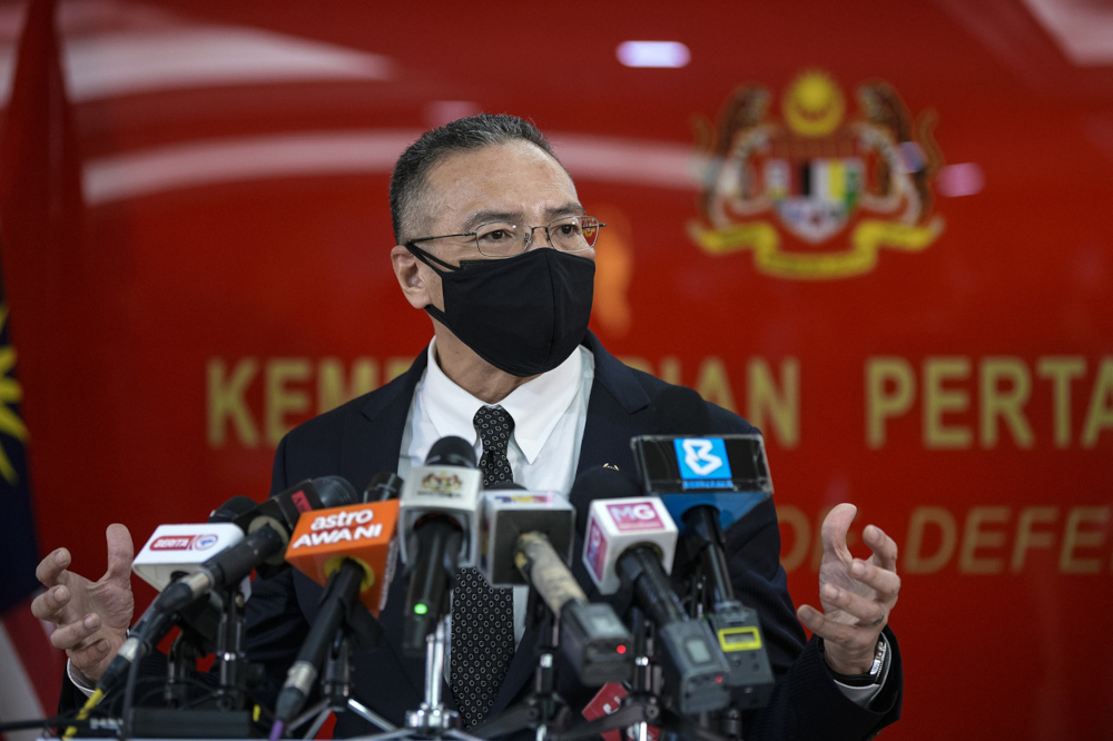 Senior Defence Minister Datuk Seri Hishammuddin Hussien said the directive was issued by the National Security Council (MKN) following the Pandemic Management Special Committee Meeting yesterday, after taking into account public feedback and views on the MyTravelPass programme. — Bernama pic