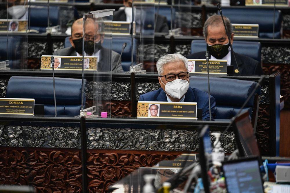 Prime Minister Datuk Seri Ismail Sabri Yaakob is seen during a Parliament sitting in Kuala Lumpur July 26, 2021. — Bernama pic