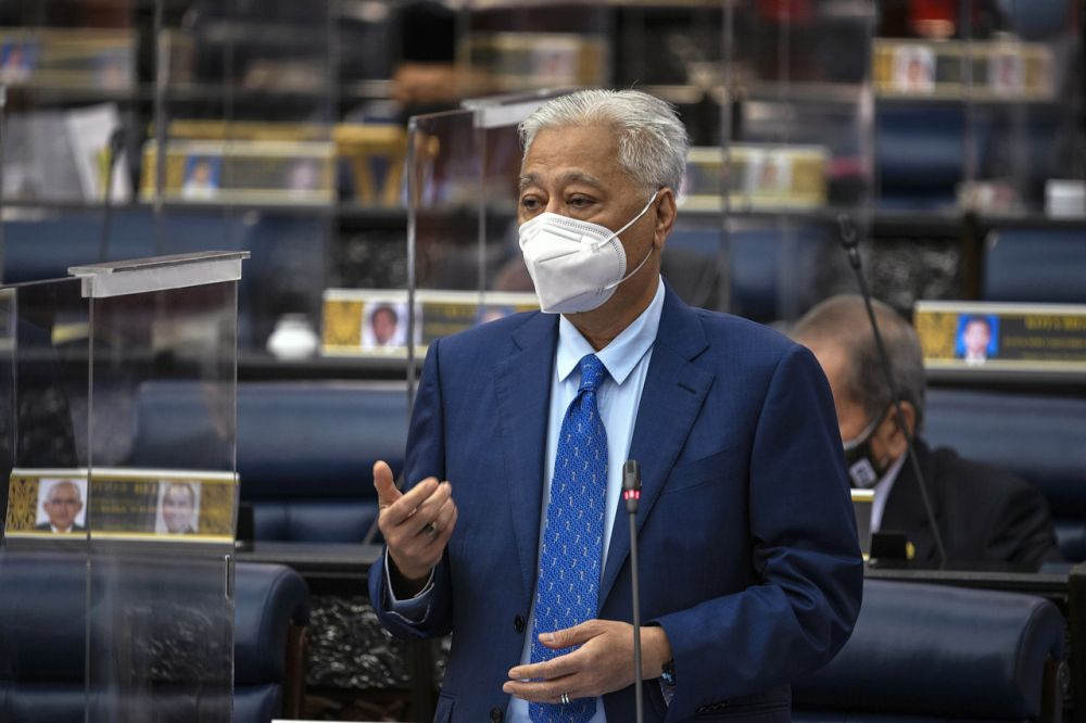 Prime Minister Datuk Seri Ismail Sabri Yaakob addresses members of Parliament in Kuala Lumpur September 15, 2021. — Bernama pic