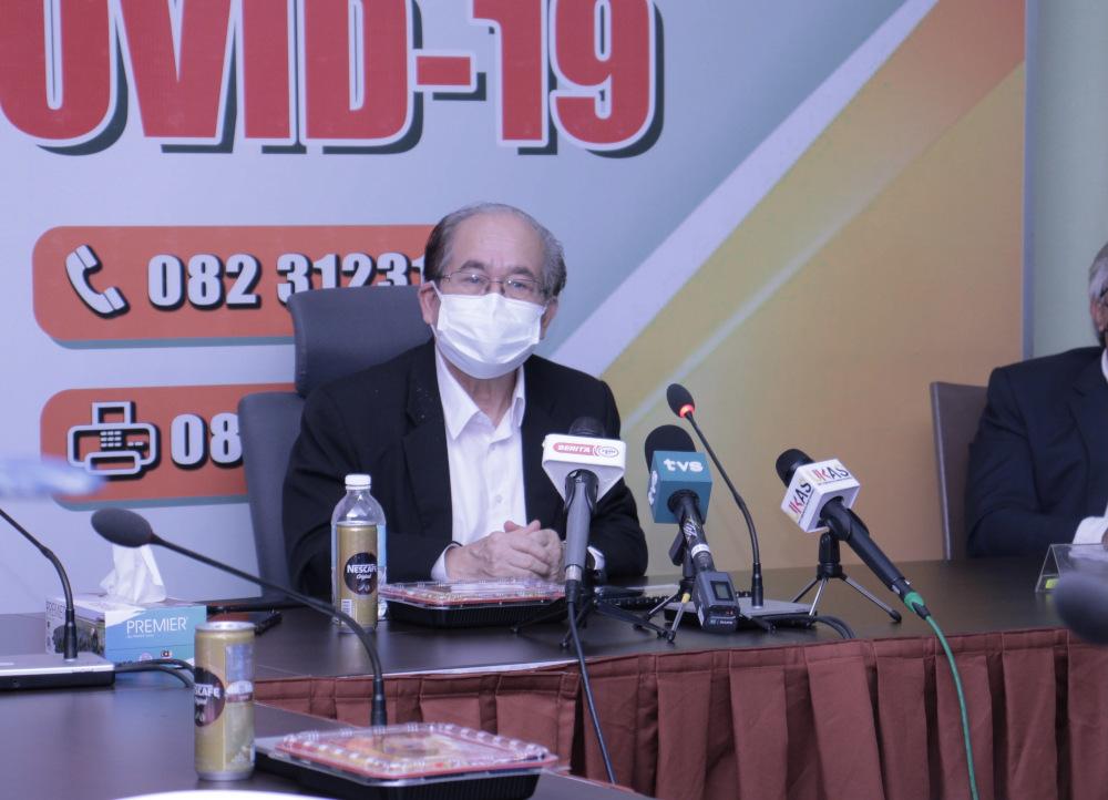 Datuk Amar Douglas Uggah Embas speaks during the press conference. — Photo courtesy of UKAS