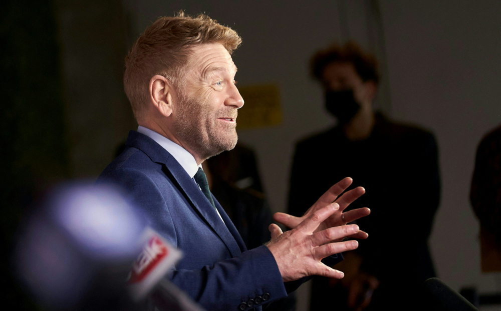 Kenneth Branagh speaks to reporters at the Gala Presentation of Belfast at the Toronto International Film Festival in Toronto, Ontario, September 12, 2021. — AFP pic