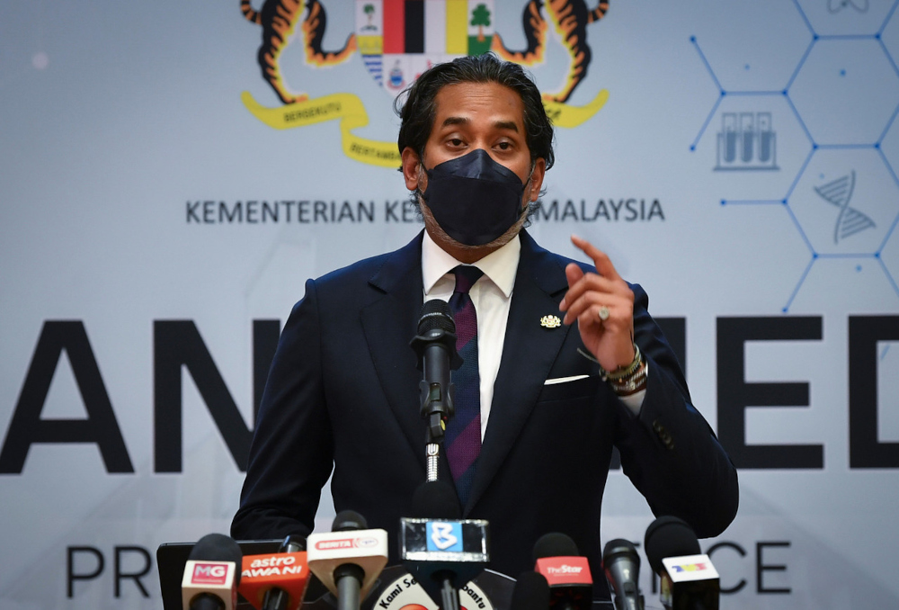 Health Minister Khairy Jamaluddin said husbands have to also be tested negative for Covid-19 before being allowed to join their wives in the delivery room. — Bernama pic