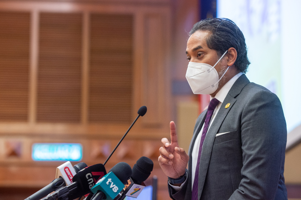 Health Minister Khairy Jamaluddin said despite the success of ending polio in Malaysia, the community must continue to remain vigilant as there were still countries that were not yet free from the disease.. — Picture by Shafwan Zaidon